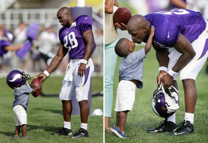 Adrian-Peterson-and-his-son