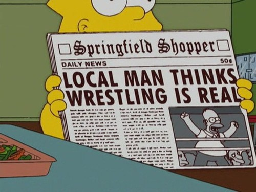 wrestling is real